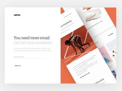 New Ueno Newsletter signup page