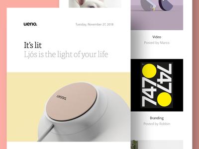 Ueno Newsletter: November 27, 2018 newsletter design newsletter