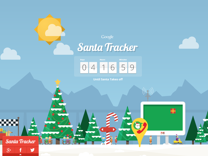 Santa Tracker disney countdown village google upperquad santa tracker games html5 christmas elves holidays