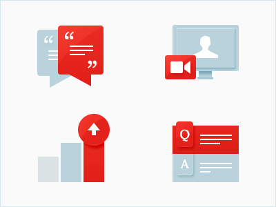 Learning Icons retina q and a success education growth educate chat questions answers qa video vc video chat student school illustrations red economist application start icons simple
