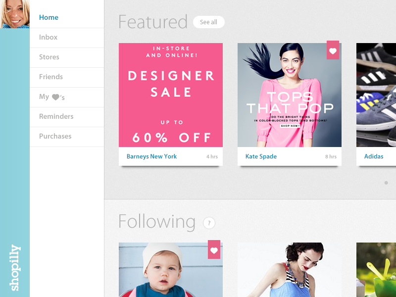 Shopilly - Home shopping shopilly following feed featured inbox grid like heart clothes fashion