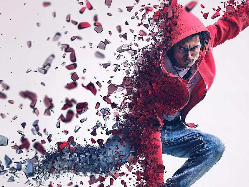 action dispersion photoshop