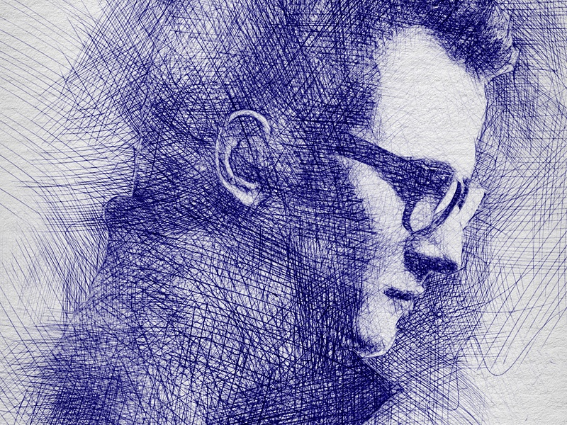 Pen sketch photoshop action by eugene design dribbble
