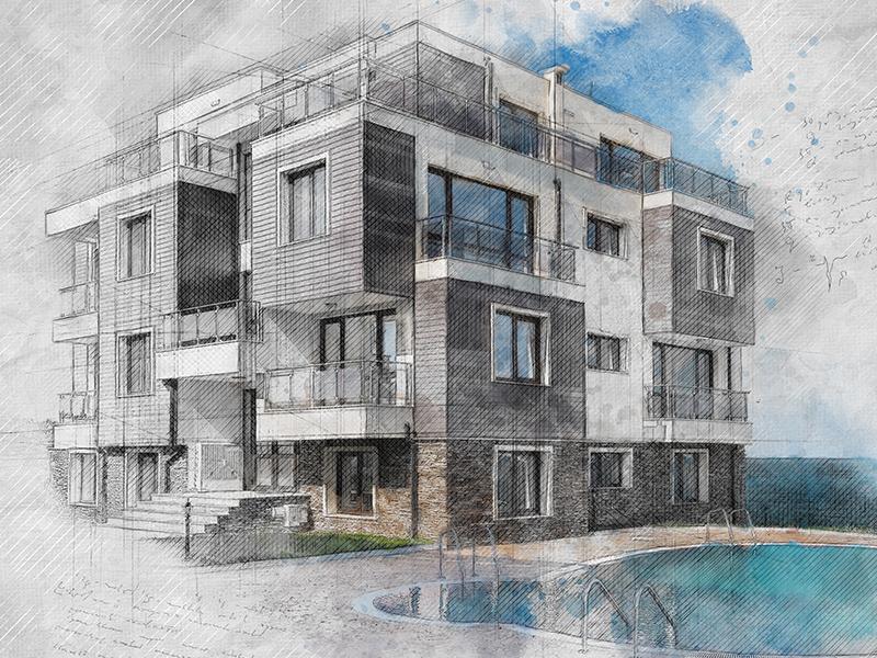 Archi Sketch Photoshop Action By Eugene-Design - Dribbble