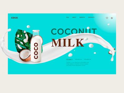 Concept for coconut milk