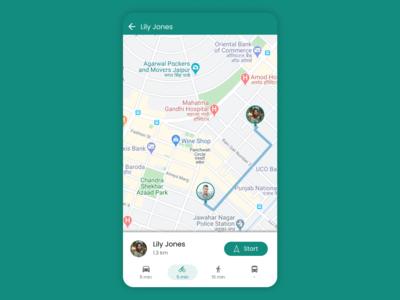 Daily UI #020 Location Tracker whatsapp uidesign ui inspiration ui ux ui location location app map maps location tracker dailyui020 daily ui dailyui