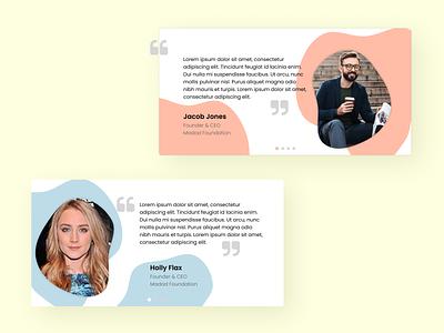 Daily UI 039 Testimonials 100 day project uidesign reviews pastel uiux webdesign testimonial testimonials ui dailyui