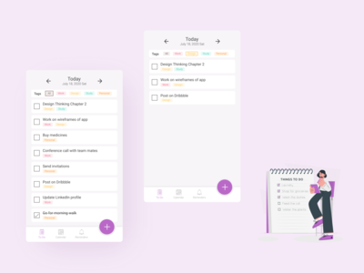 Daily UI 042 TO DO LIST uidesign ui app design dailyuichallenge daily ui 042 dailyui to do list to do app