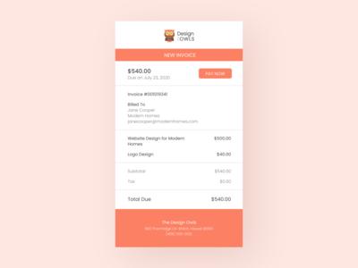 Daily UI 046 Invoice indesign ui design template invoice design invoice template invoice daily ui daily ui 046