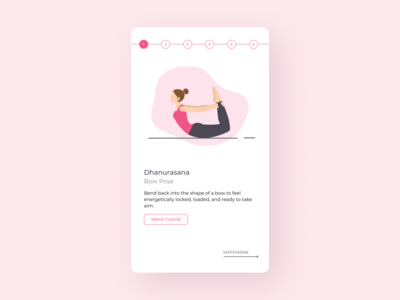 Daily UI 062 Workout of the day dailyuichallenge uiux ui mobile ui whitespace ui design minimal ui workout app yoga pose yoga app workout tracker workout dailyui062 daily ui daily ui 062 dailyui