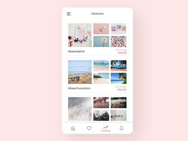 Daily UI 069 Trending mobile app pastel colours daily ui photography aesthetics aesthetic trending ui dailyuichallenge ui design trending dailyui069 dailyui