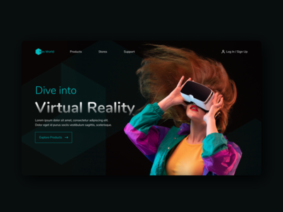 Daily UI 073 Virtual Reality ui ux uiux uidesign ui design daily ui dailyui home page hero banner daily ui 073 figma design figmadesign landing page design landing page ui landing page virtualreality vr virtual reality