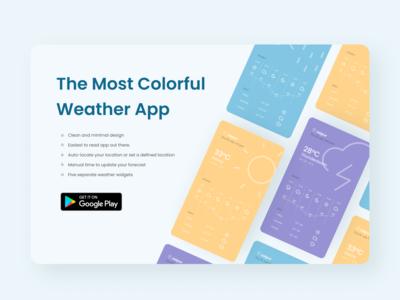 Daily UI 074 Download app desktop ui design website design weather forecast download app dailyuichallenge weather app daily ui 074 daily ui dailyui