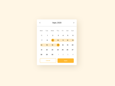 Daily UI 080 Date Picker dribbble invite app design website design ui figma design uiux ui design daily ui date range flight booking ui components daily ui 080 date picker datepicker