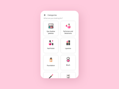Daily UI 099 Categories dribbble invite uidesign app ui dailyuichallenge ui design app design category page categories daily ui daily ui 099 dailyui