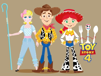 Character Toy Story 4 / Woddy & Jessie