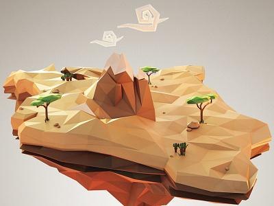 DoubleB coffee illustration - Kenya 3d render coffee lowpoly 3ds max