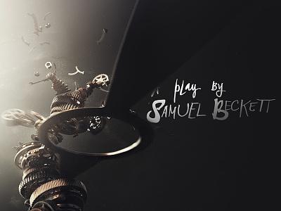 Beckett typography titles waiting for godot beckett