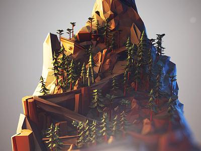 Mountain polygons mountain low poly