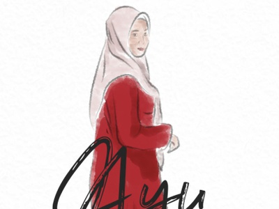 "ILLUSTRATION ""Ayu"" vector animation ilustrasi illustrations digital art digital illustration digital painting branding illustrator illustration design graphic design"