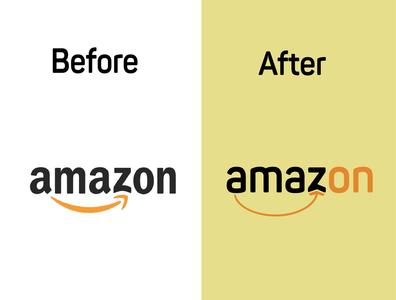 rebranding logo : amazon