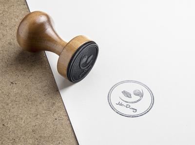 design Rubber Stamp MockUp