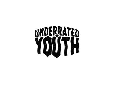 Underrated Youth | Logo Design type typography music minimalist logotype lettering flat concept branding brand identity badge black adobe illustrator 2d