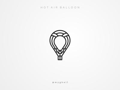 Hot Air Balloon | Daily Logo Challenge #2