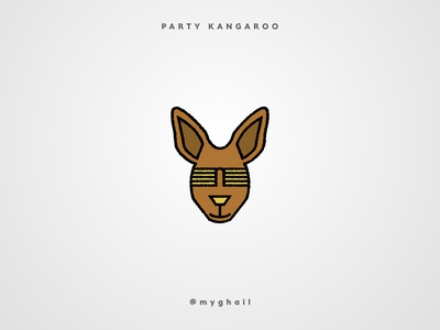 Party Kangaroo | Daily Logo Challenge #19