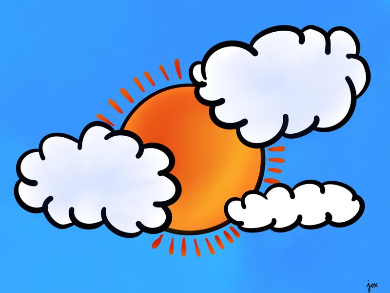 Sunshine clouds sunrise sunset sunshine sunny sun draw drawing illustrations illustration doodle doodles