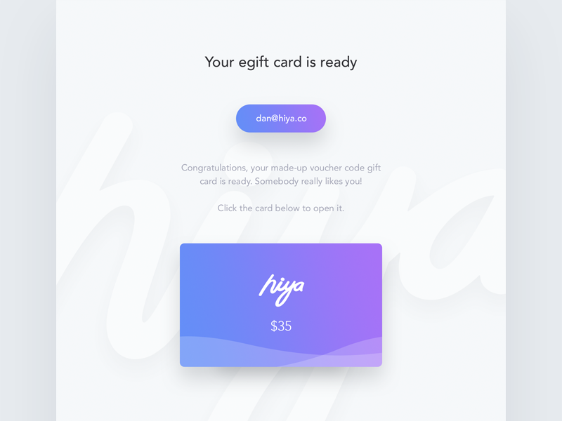 Gift Card Email Template By Dan Baker Dribbble Dribbble