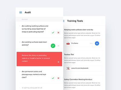 Queries & Tools light ux ui mobile iphone ios flat clean app tools questions