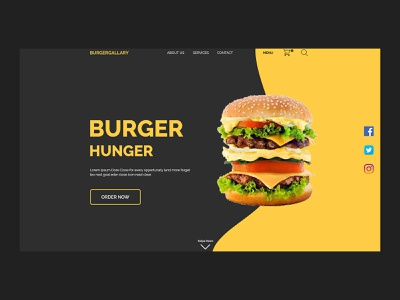 Burger Club homepage website apps ux landingpage design web typography branding ui design