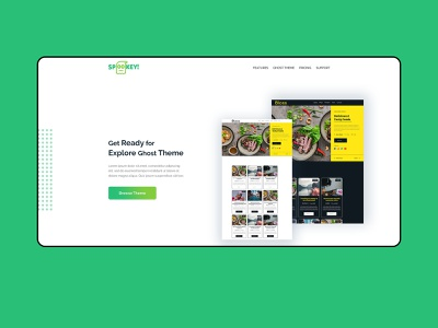 Landing page home section bootstrap4 css3 html5 typography website homepage landingpage branding web ui design