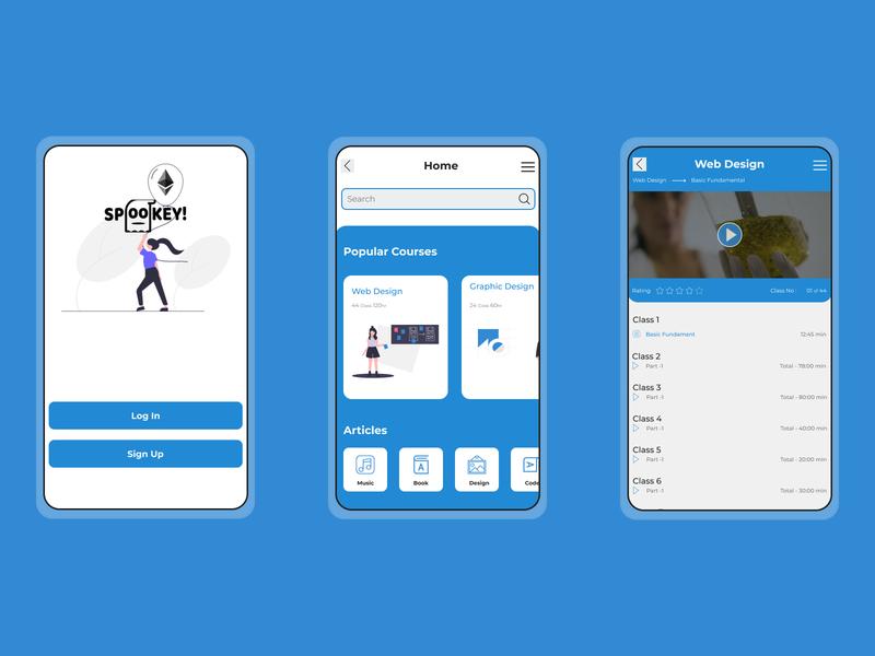ISO Online Course App Design vector design illustration mobile app design mobile ui app design app typography ui design