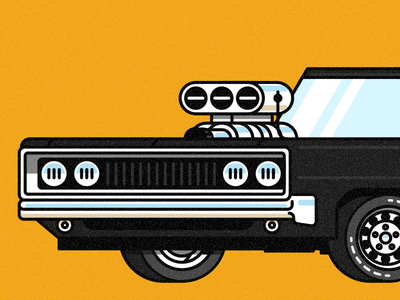 '70 Charger illustration transportation tires motor engine vehicle automobile car dodge 1970 charger
