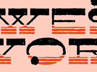 Westworld Type Treatment west western westworld distressed type treatment typeface