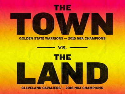 Cavs vs. Warriors Illustration