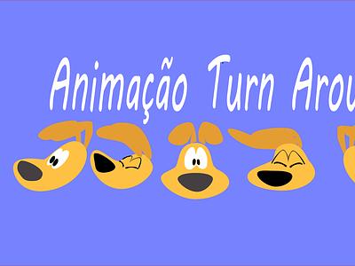 tur around dog turnaround 2d 2danimation illustrator aftereffects illustration flat vector