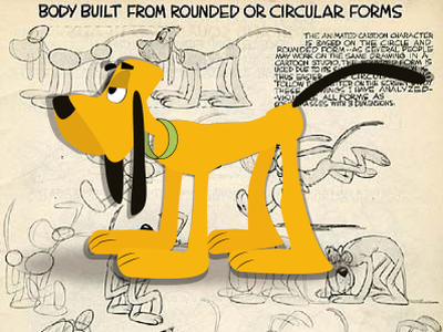 dog from rounded and circular form 2dart oldschool illustration 2d 2d character 2danimation vector flat illustrator