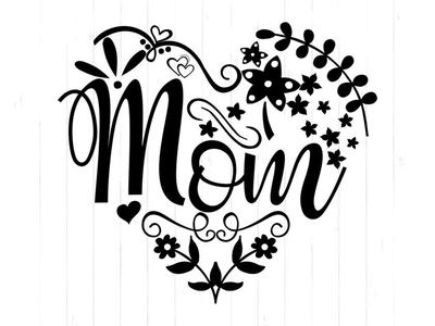 Mothers Day Files for Cricut mom heat heats mothers day illustration vector logo halloween design
