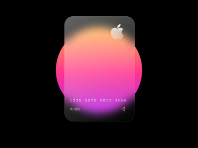 Apple card card design card shopping minimal design branding