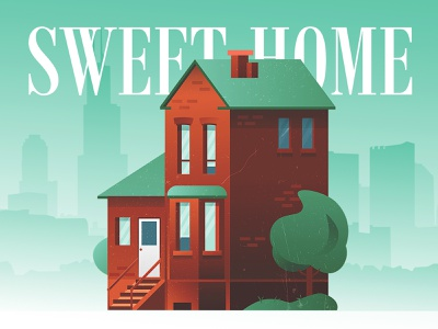 SweetHome Dribbble 2 website minimal typography illustration vector icon design