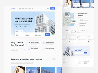 Housie - Real Estate Landing Page real estate website exploration web web design mobiledesign website ux real estate mobile landing page mobile app app ui