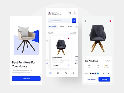 Furniture Store Mobile App ux flat property furniture mobile mobiledesign app mobile app app design simple clean design ui