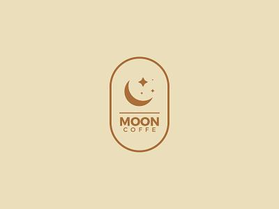 Moon Coffee branding design modern minimalist minimal moon logotype logo mark logo a day coffee coffeeshop brand identity brand branding