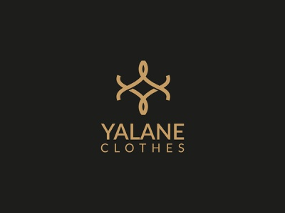 Yalane Clothes company business concept clean logo logo mark brand identity brand branding unique logo minimal luxury logo merch design t shirt logotype logo creator logos logo clothes logo clothes shop clothes