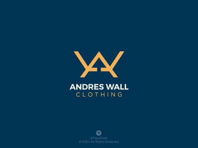 Andres Wall Clothing - Logo Branding Identity logo branding design logo branding letter logo letter carachter minimalist type mark t-shirt logo fashion logo fashion branding fashion brand logo clothing logo clothing brand logo cloth logo clothes clothing brand clothing logotype logomark