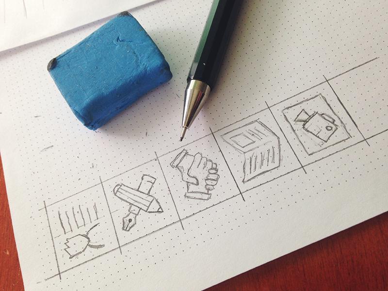 Personal web icon set icons icon sketch drawing pencil web paper set