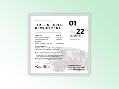 Timelines Open Recruitment